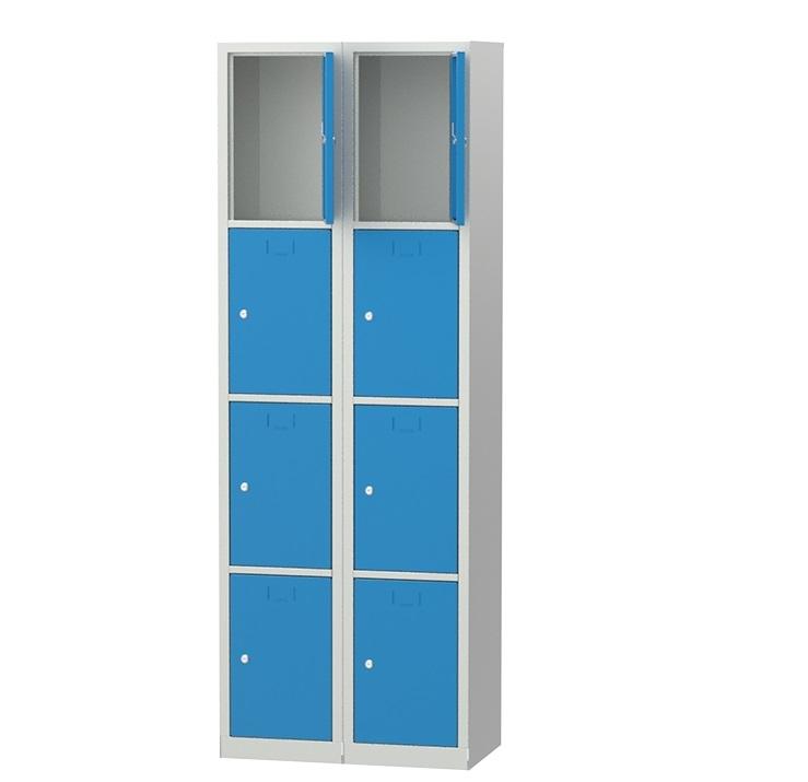 метален гардероб с 8 лични шкафчета 6063