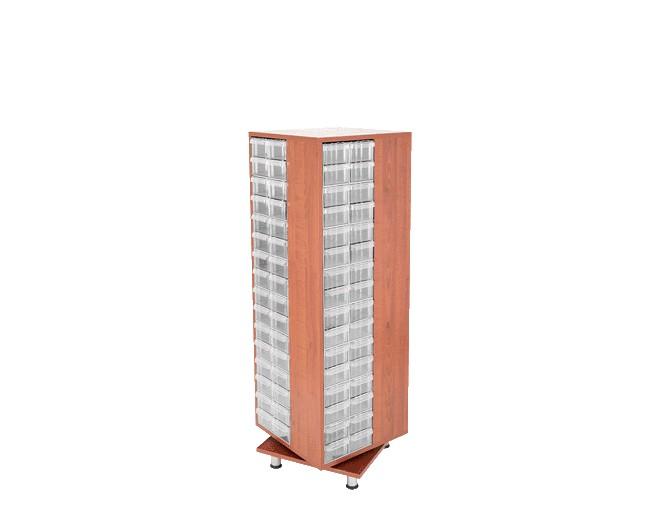 дървен щендер с кутии за чекмеджета SD-401-128