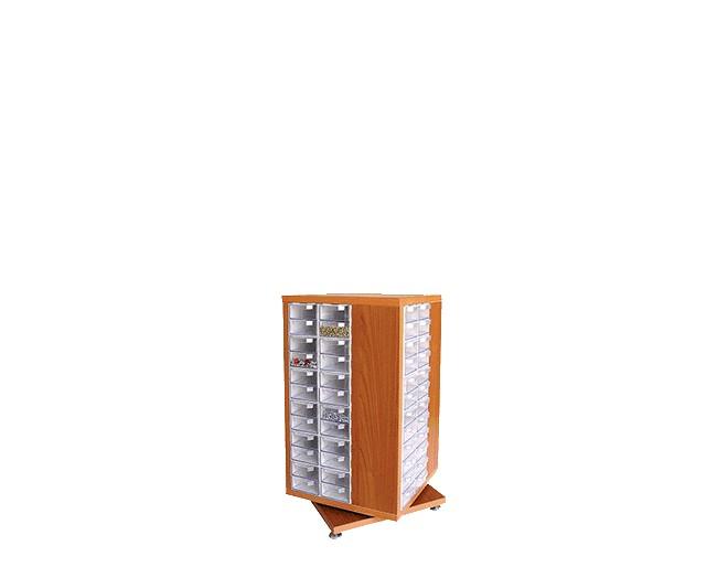 дървен щендер с кутии за чекмеджета SD-96