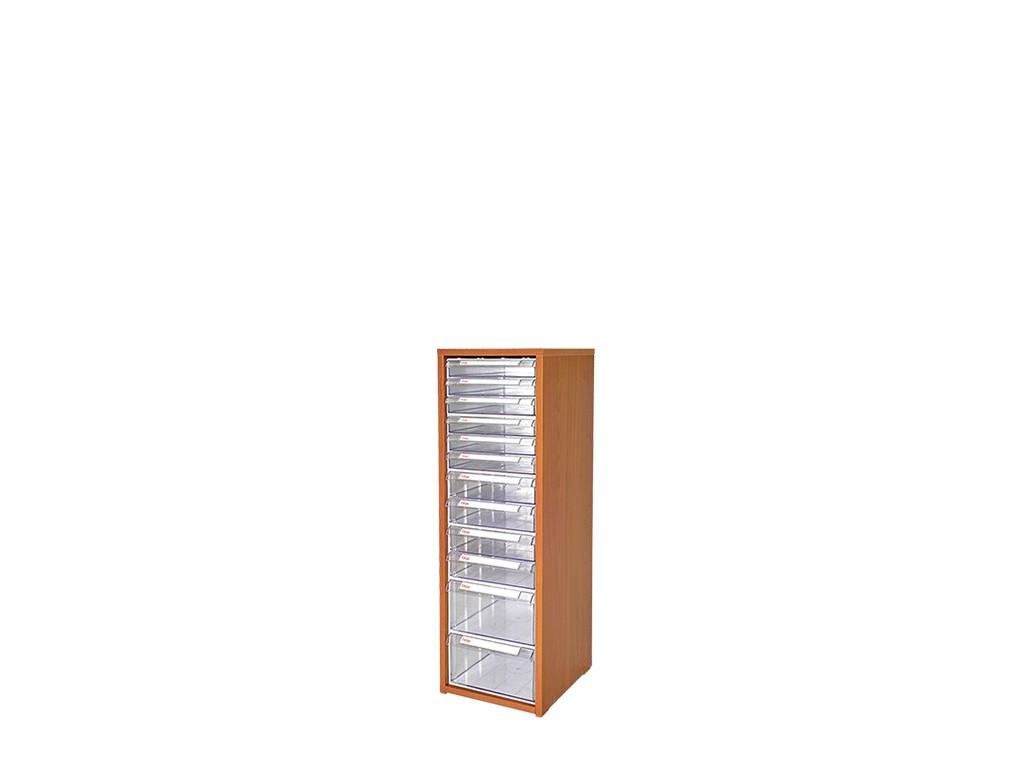 дървен щендер с кутии за чекмеджета SM-16