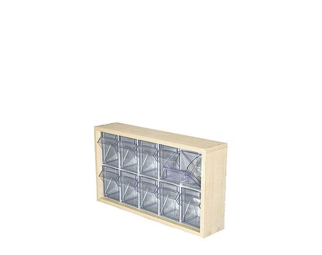 дървен щендер с кутии за чекмеджета SM-2-10