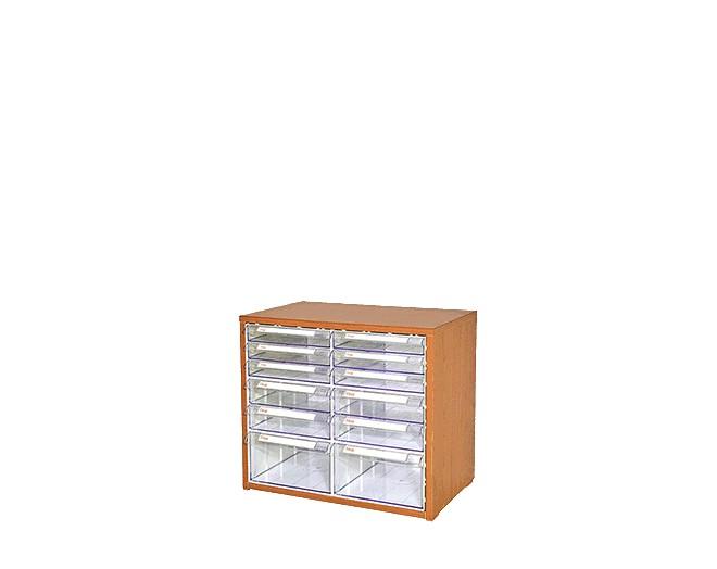 дървен щендер с кутии за чекмеджета SM-23