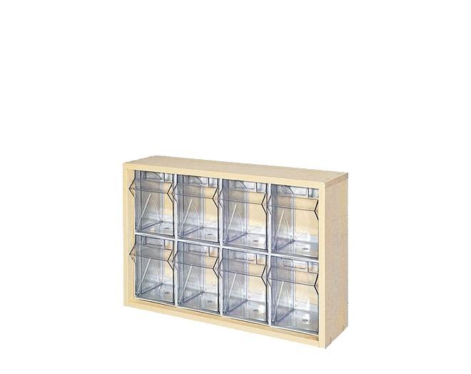 дървен щендер с кутии за чекмеджета SM-3-8