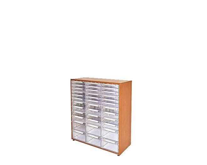 дървен щендер с кутии за чекмеджета SM-36