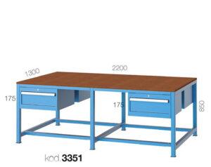 метална работна маса 3350