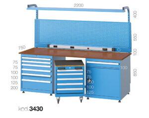 метална работна маса 3425