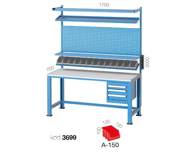 метална работна маса 3699