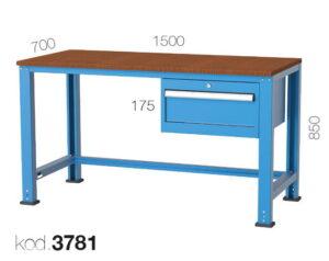 метална работна маса 3781