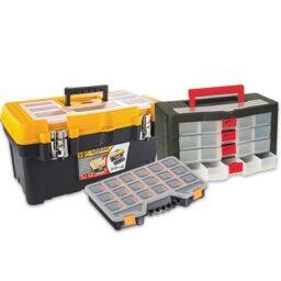 Пластмасови куфари за инструменти и органайзери