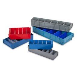 Пластмасови кутии за рафтове