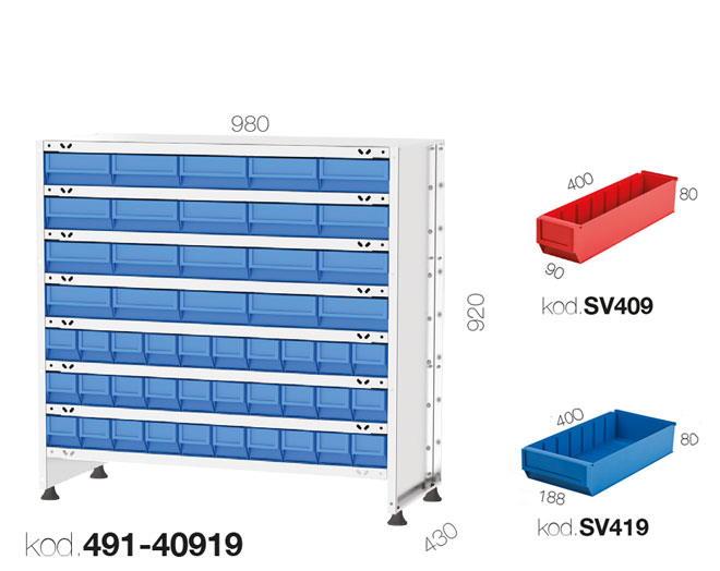 щендер с рафтови кутии 491-40919