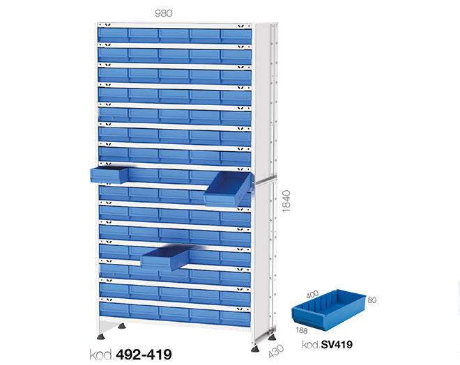 щендер с рафтови кутии 492-419