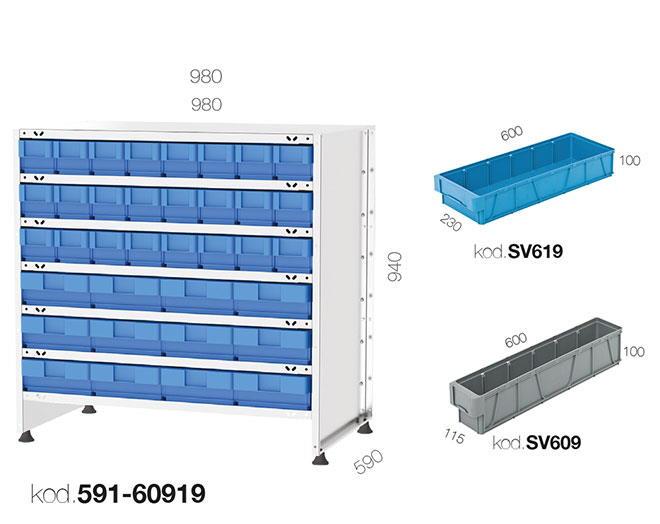 щендер с рафтови кутии 591-60919