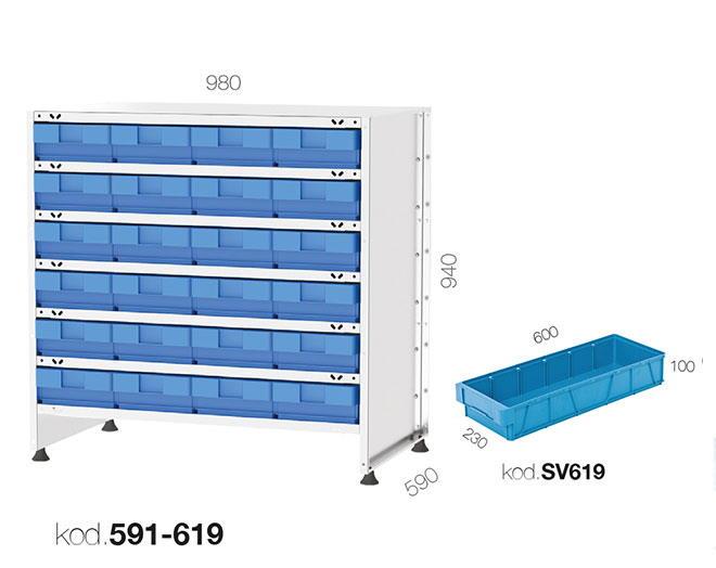щендер с рафтови кутии 591-619