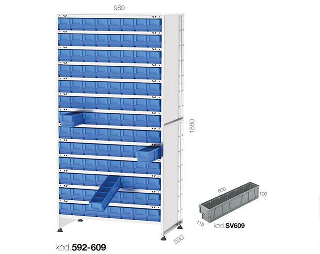 щендер с рафтови кутии 592-609
